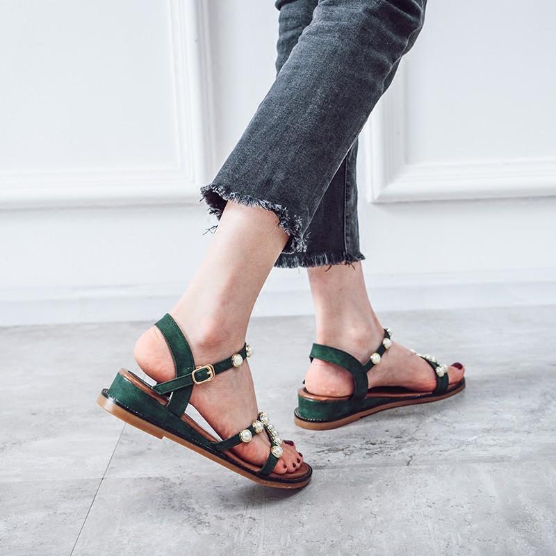 Hàng nhập khẩu: dép nữ thời trang sandal không xỏ ngón