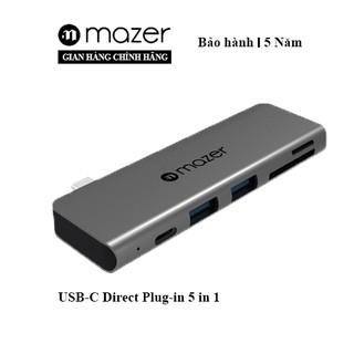 Cổng Chuyển Đổi Mazer USB-C Direct Plug-in 5 in 1
