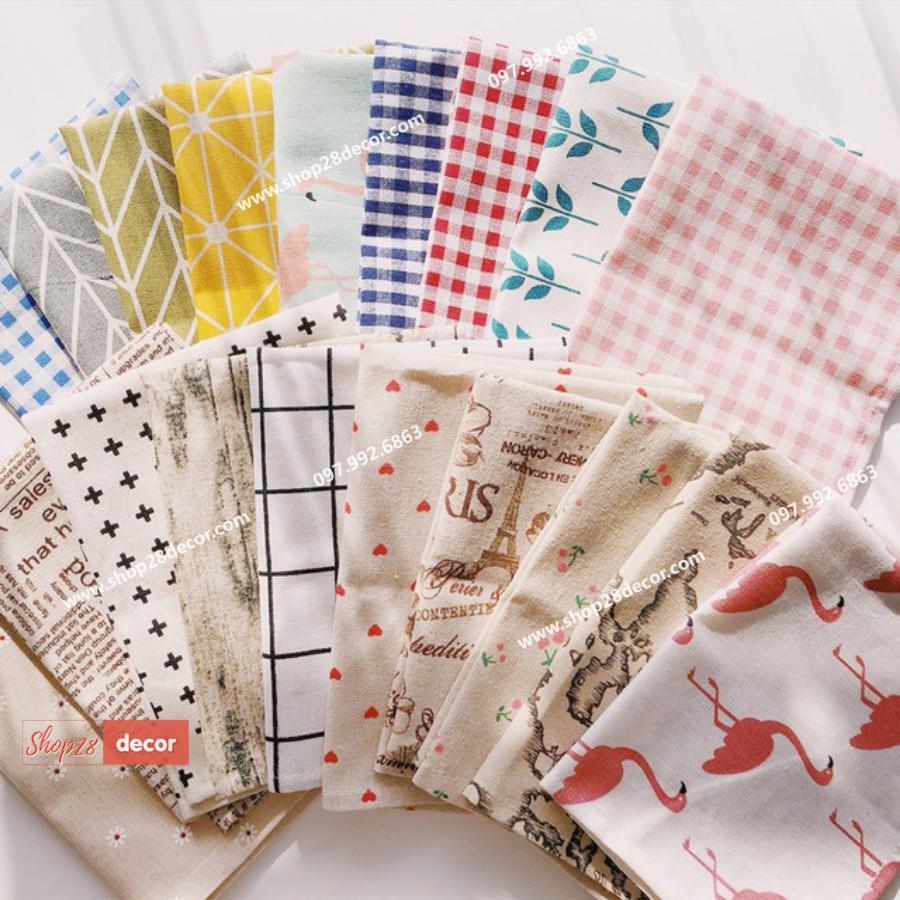 Vải canvas trang trí chụp ảnh sản phẩm - Shop28Decor.com