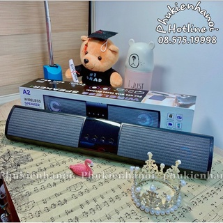 Loa Bluetooth Speaker A2 PKH242 , Thiết kế dáng dài 2 loa , Âm thanh sống động