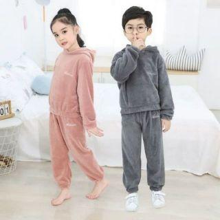 Bộ quần áo Lông Cừu siêu mềm mịn cho Bé và Mẹ [Clip thật]