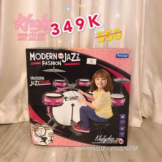 Set bộ 6 trống Jazz Drum 11 món màu hồng cho bé gái – 560667 ( 39x18x39cm)