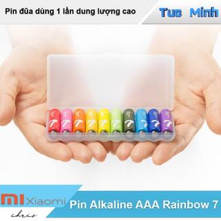 Pin AAA Alkaline Xiaomi Rainbow 7 - 1 vỉ 10 viên