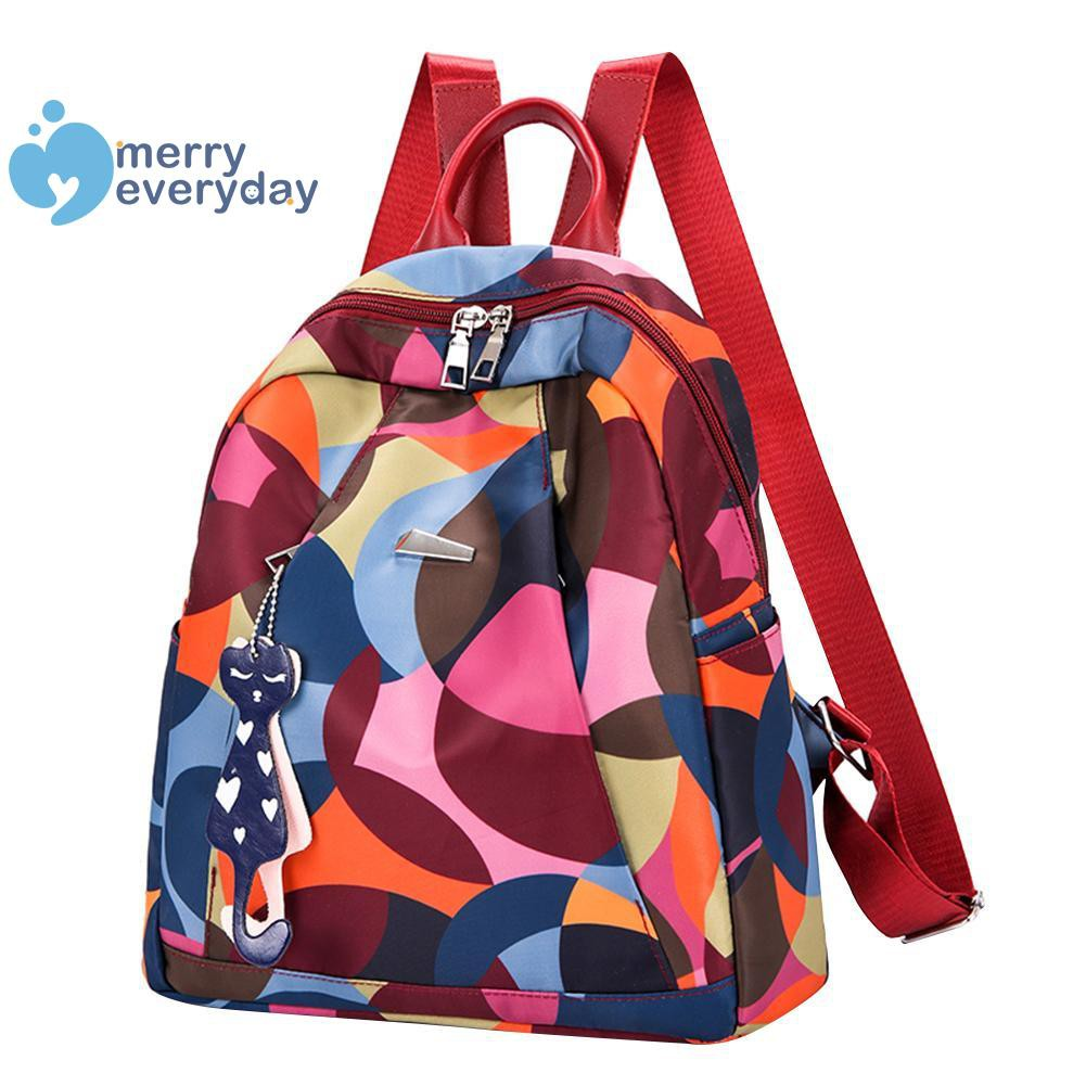 ❉mer❉Colorful Small Oxford Backpacks Women Schoolbags Casual Travel Shoulder Bag