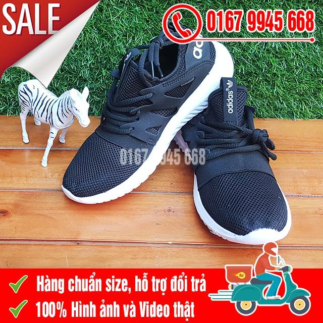 [SALE SỐC] Giày Adidas Tubular Lưới Đen Trắng