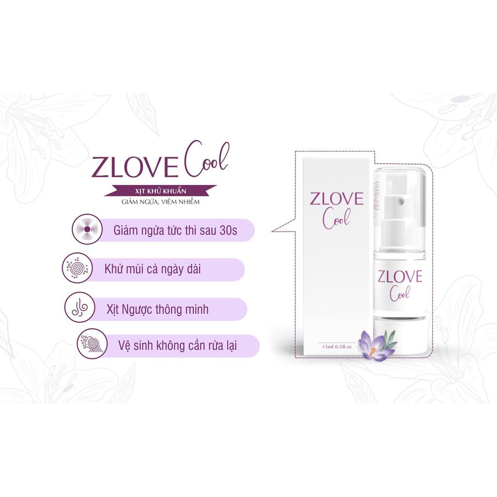 ZLOVE COOL [Chai 30ml] - Xịt phụ khoa kháng khuẩn, khử mùi vùng kín