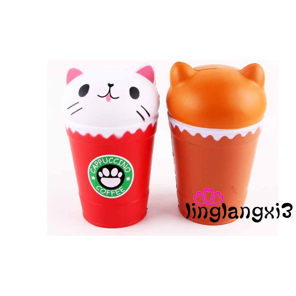 ALA-Squishy Hamburger Cat Slow Rising Soft Squeeze Stress Reliever Scented Toys