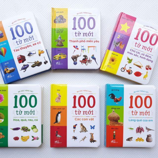 Sách - Combo bé học tiếng việt - 100 từ mới dành cho bé ( 6 cuốn )