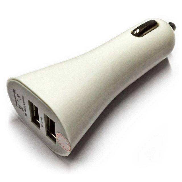 Sạc xe hơi 2 cổng USB PeepVN (Trắng)