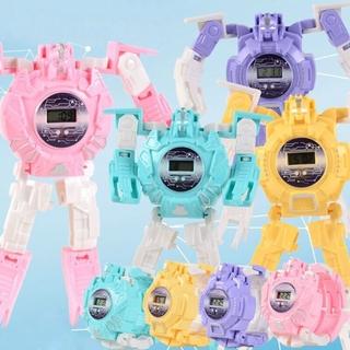 Đồng Hồ Điện Tử Hình Robot Biến Hình Cho Bé thumbnail