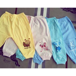 Combo 10 quần mềm đẹp 100% cotton Thái Hà Thịnh an toàn cho bé sơ sinh