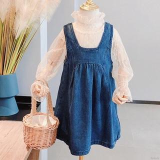 Set Áo Chấm Bi Và Váy Yếm Xinh Xắn Dành Cho Bé Gái