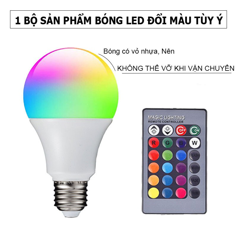 Bóng Đèn led đổi màu có điều khiển tùy ý - Bóng Led decor trang trí phòng ngủ, nhà cửa, Đèn quay Tiktok Triệu view