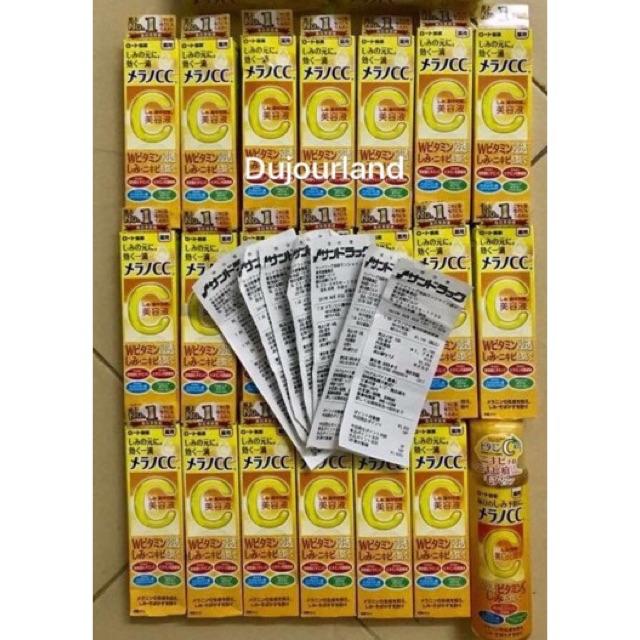 Serum Vitamin C Melano CC Rohto (Tinh Chất Đặc Trị Nám Mụn Cc Melano) hàng nhặt store nhật Bill đủ