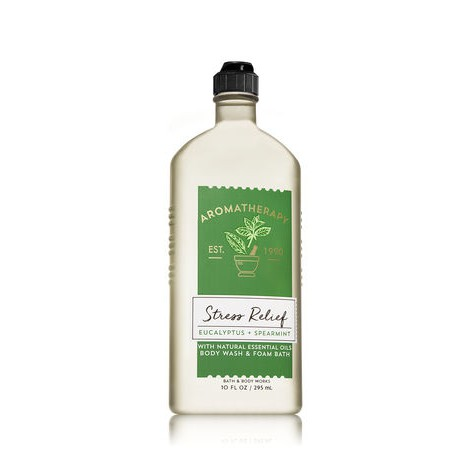 Tắm thư giãn Stress Relief Eucalyptus + Spearmint - Bath & Body Works Aromatherapy (295ml)