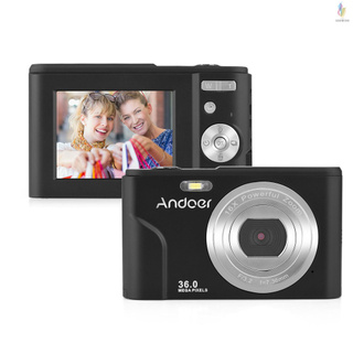 Andoer Digital Camera 36MP 1080P 2.4-inch IPS Screen 16x Zoom Self-Timer 128GB Extended Memory Face Detection Anti-shaking Built-in 2PCS Batteries Uni