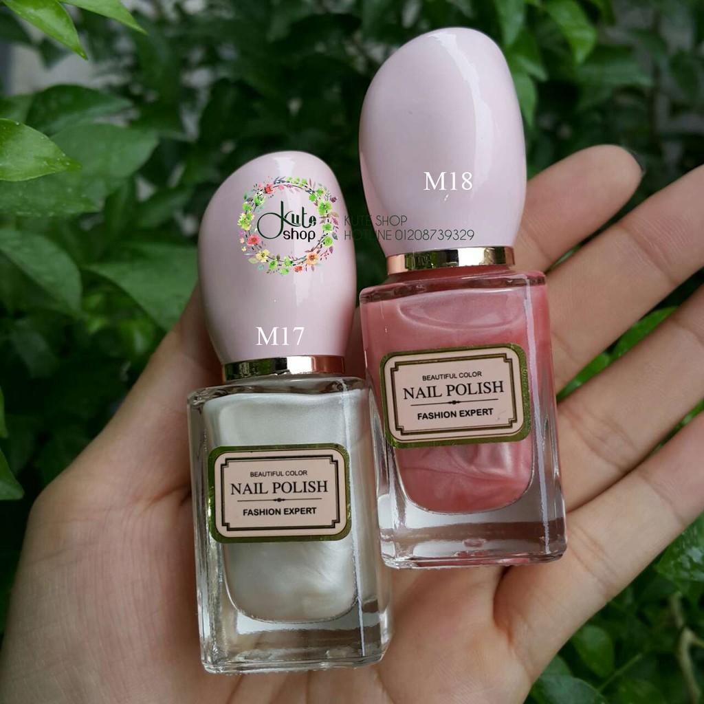 Sơn móng có nhũ / Sơn dưỡng móng / Sơn bóng Miniso Nail Polish Fashion Expert 15ml