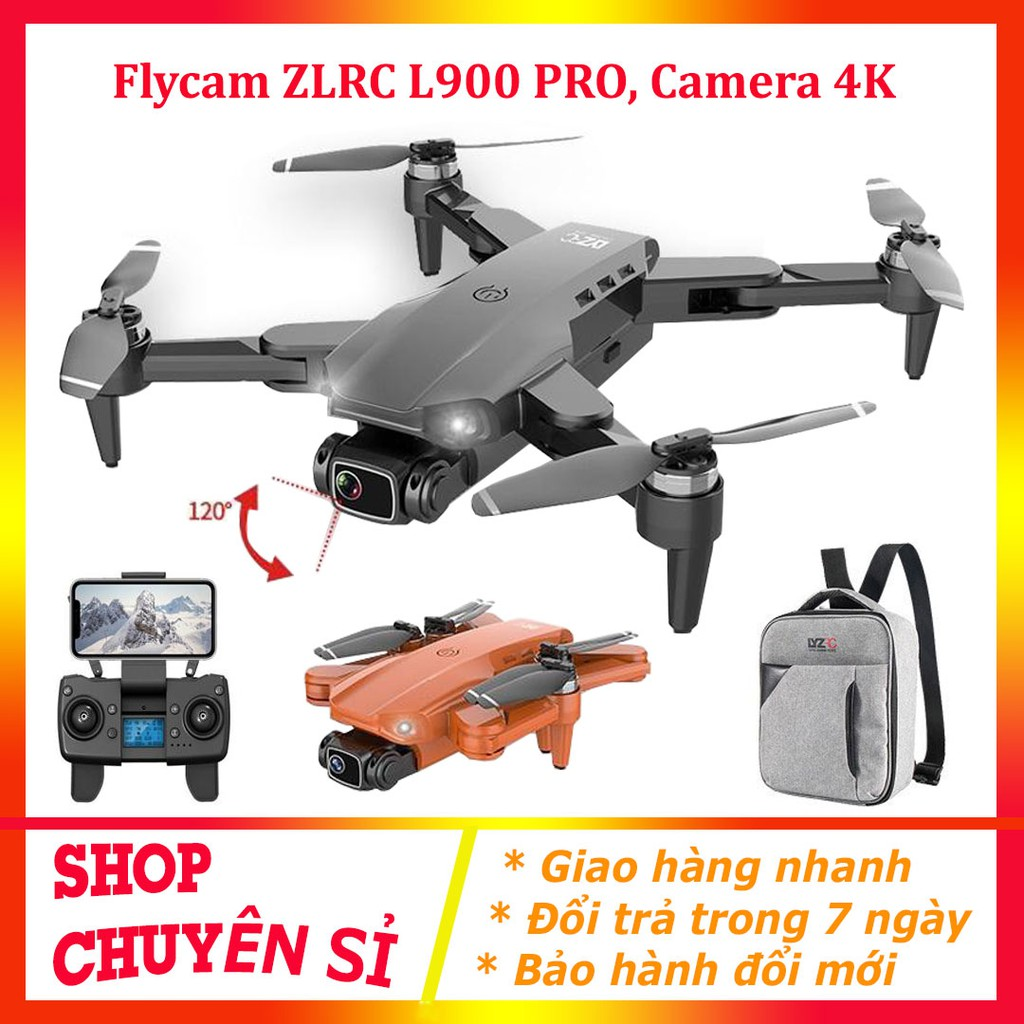 Flycam Mini Drone Camera 4k⚡️𝐅𝐑𝐄𝐄 𝐒𝐇𝐈𝐏⚡️ Máy bay Flycam L900 Pro, Gimbal 2 Trục Camera 4K,Động Cơ Không Chổi Than