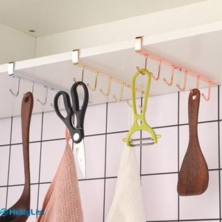 Giá Đỡ 6 Móc Treo Đồ Dùng Nhà Tắm / Nhà Bếp Bằng Sắt Tiện Dụng