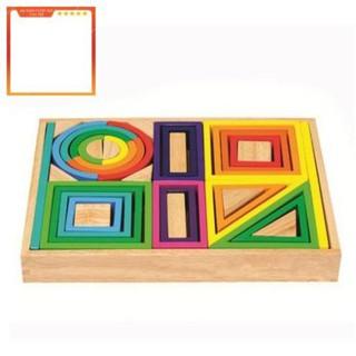 Rainbow blocks – Đồ chơi xếp hình – Đồ chơi sạch Cánh Diều