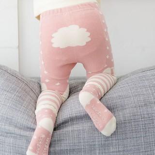 Set quần dài ôm kèm tất bằng cotton họa tiết con vật dễ thương giữ ấm cho bé yêu