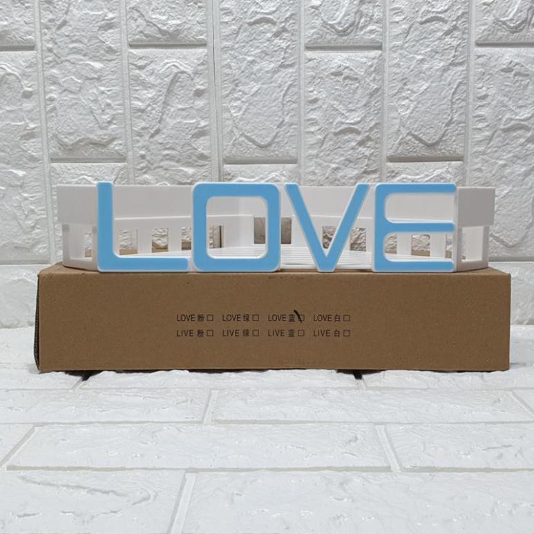 [Free Ship] Kệ góc nhà tắm chữ LOVE hút chân không siêu kute