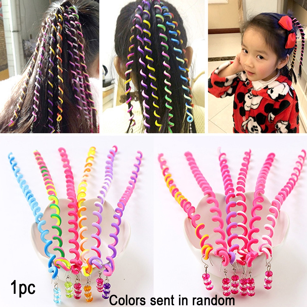 2Pcs/Set Children Curler Hair Braid Maintenance Spiral Twist Styling Tools