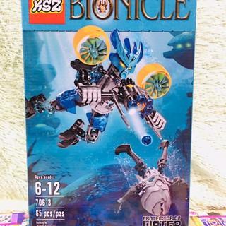Hộp lắp ráp bionicle 706-3_ HK 32986 Lấp ráp mô hình