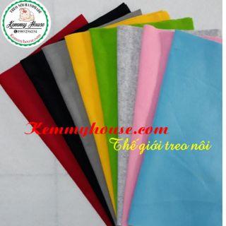 Vải nỉ mềm làm đồ treo nôi kích thước 30×35 cm và 60×70 cm