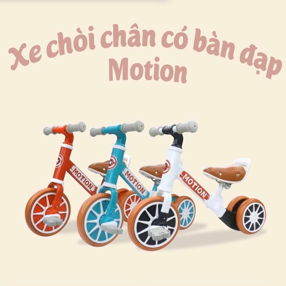 Xe chòi chân 🌟SALE🌟 kiêm xe đạp cho bé Motion – Xe thăng bằng khung thép, ghế da cho trẻ em DC018