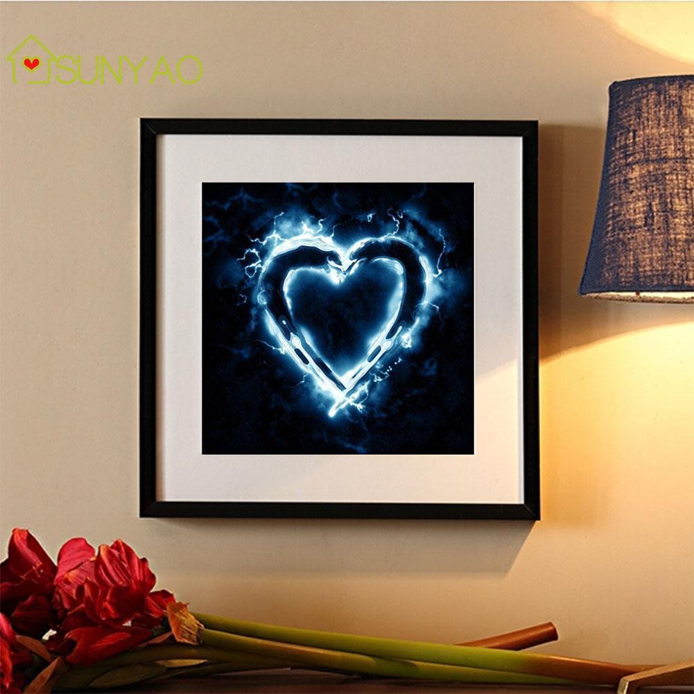 ☸Any 2 got 5%☸Heart Diamond Painting Embroidery ☸ Cross Stitch ☸