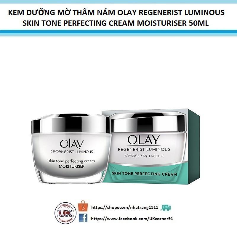 Kem dưỡng mờ thâm nám Olay Regenerist Luminous Skin Tone Perfecting Cream 50ml - 2436628 , 1030249064 , 322_1030249064 , 1050000 , Kem-duong-mo-tham-nam-Olay-Regenerist-Luminous-Skin-Tone-Perfecting-Cream-50ml-322_1030249064 , shopee.vn , Kem dưỡng mờ thâm nám Olay Regenerist Luminous Skin Tone Perfecting Cream 50ml