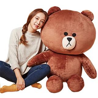 Gấu brown khổ vải 1m cao thật 80cm