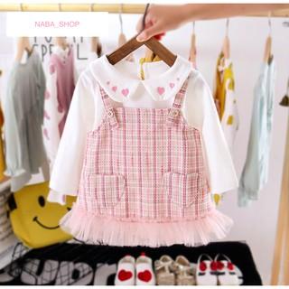 Váy dạ bé gái, set váy dạ cho bé gái