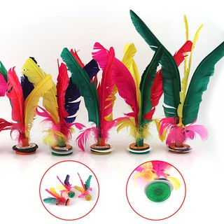 Colorful Feather Kick Shuttlecock Foot Exercise Chinese Jianzi