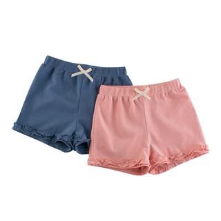 Quần short bé gái 27HOME, quần đùi bé gái chất cotton bèo gấu HK620 thumbnail