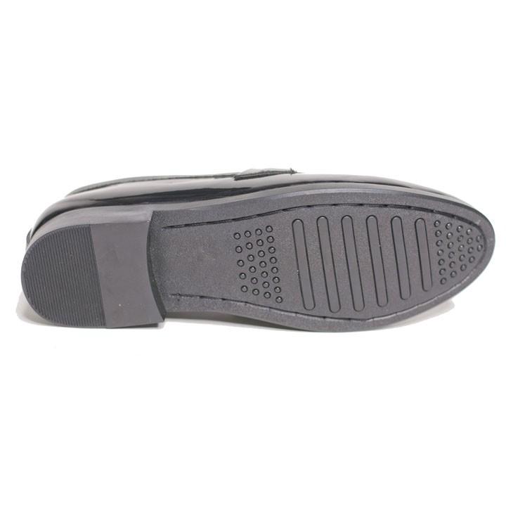 Giày Lười Nam Chuông Da Bóng Sang Trọng Đế Khâu Cao Cấp - M512(GB)- Kèm Vòng Gỗ BÁch Xanh