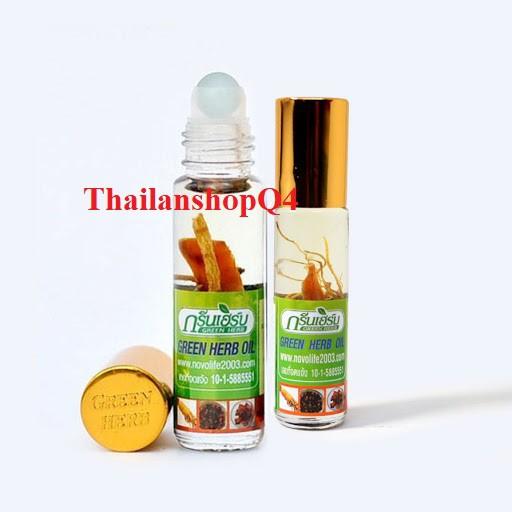 ầu Nhân Sâm Ginseng Green Herb Oil 8ml Thái Lan