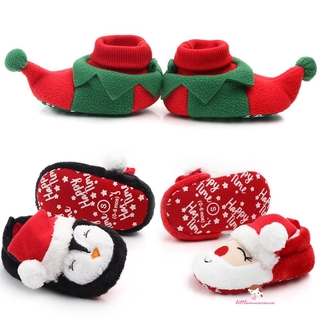XZQ7-Christmas Warm Shoes Kids Toddler First Walkers Winter Baby Shoes Xmas Cosplay thumbnail