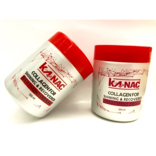 Hấp dầu đỏ Kanac Collagen for Shining & Recovered Treatment Cream 600ml