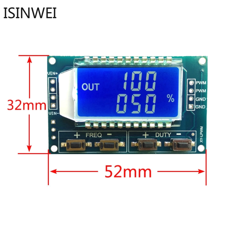 PWM Pulse Frequency Duty Cycle Adjustable Module Square Rectangular Wave Signal Generator XY-LPWM