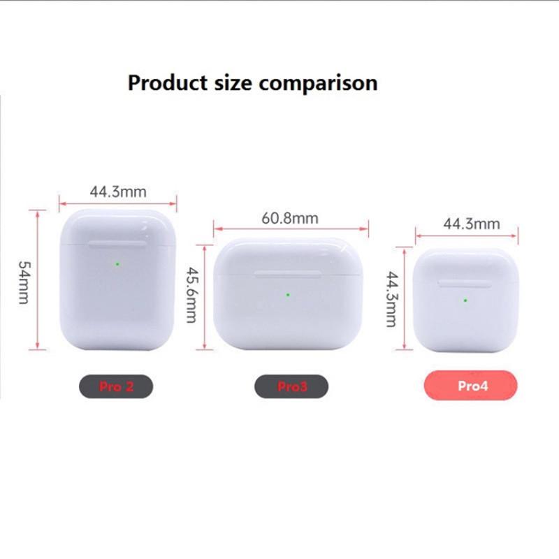 【COD】4th Gen Bluetooth Mini Tai Nghe Pro 4 100% Original TWS Tai Nghe Nhét Tai Không Dây Chơi Game Thể Thao Tai Nghe Bluetooth Pro4 Tai Nghe Nhét Tai Earbuds Cho iPhone 12 Pro Điện Thoại Android Huawei Xiaomi Realme Oppo Vivo