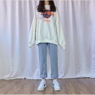 Quần jeans baggy nư, ống suông, rộng dài hot 2021