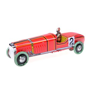 Vintage red Wind Up Racing old classic Race Car model Vehicle toy