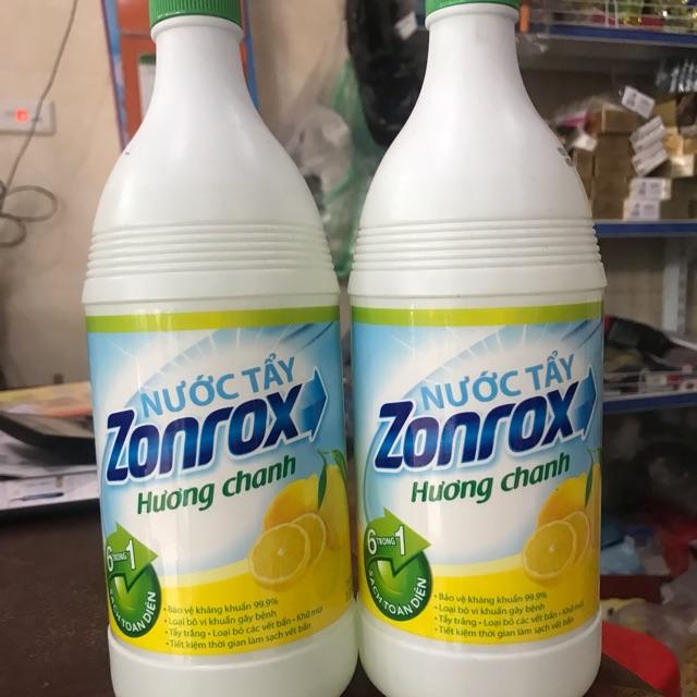 Chai nước tẩy quần áo Zonrox hương chanh chai 1 lít