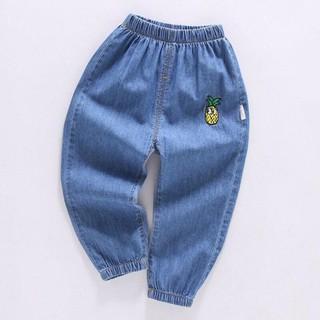 Quần bò giấy Jean mềm cho bé gái/ bé trai (Size 90-130)