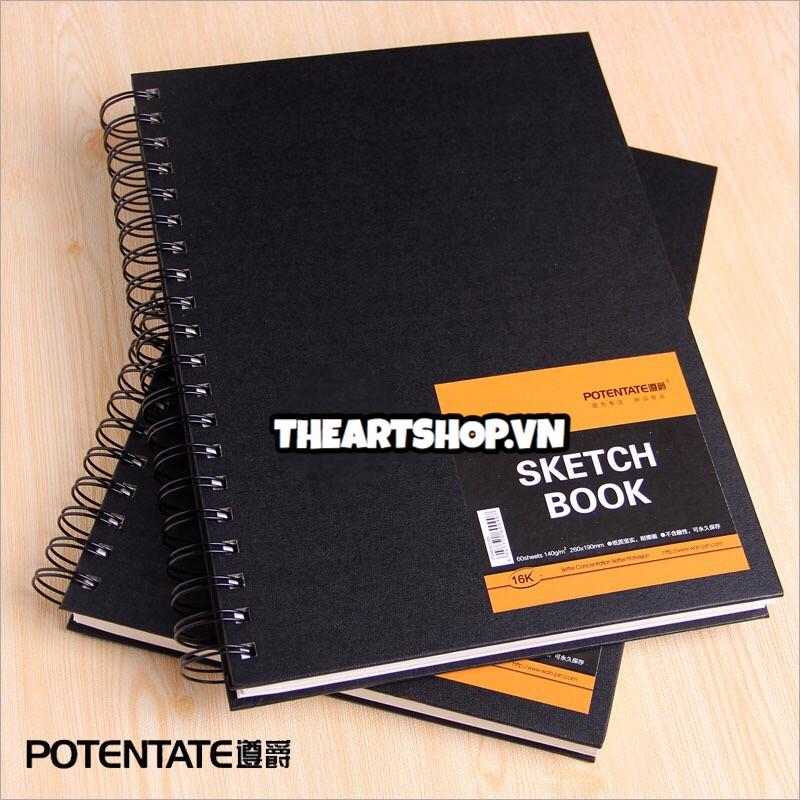 Hand Cover Spiral Sketchbook