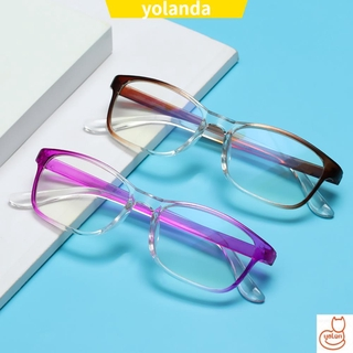 ☆YOLA☆ Fashion Anti-Blue Light Eyeglasses Comfortable Ultra Light Frame Reading Glasses Portable Women Men Antifatigue Vintage Eye Protection/Multicolor