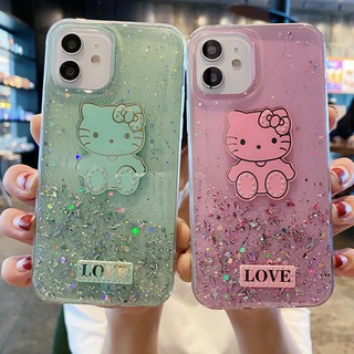 Casyva Casing Samsung A10 M10 A20 A30 A40 A50 A60 A70 A80 A90 A10S A20S A30S A50S A20E A10E Star Glitter Hello Kitty Cat KT Soft Phone Case Cover