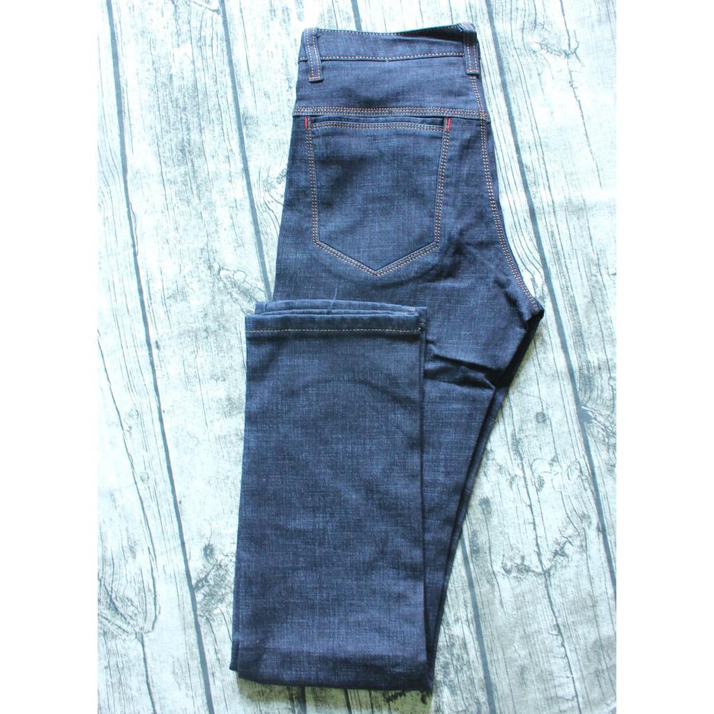 Quần Jeans ống suông nam màu xanh than